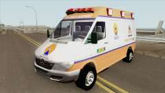 Mercedes-Benz Sprinter Ambulance (Defesa Civil) para GTA San Andreas