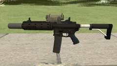 Carbine Rifle V3 Silenced, Tactical, Flashlight para GTA San Andreas