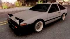 Toyota Trueno AE86 1986 Grey para GTA San Andreas