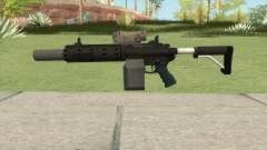 Carbine Rifle V1 Silenced, Tactical, Flashlight para GTA San Andreas