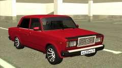 VAZ 2107 Limousine Vermelho para GTA San Andreas