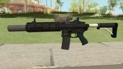 Carbine Rifle V2 Silenced, Tactical, Flashlight para GTA San Andreas