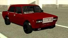 Vermelho VAZ 2107 de Combate Clássico para GTA San Andreas