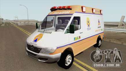 Mercedes-Benz Sprinter Ambulance (Defesa Civil) para GTA San Andreas