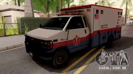 Brute Ambulance GTA 5 White para GTA San Andreas