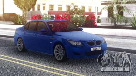 BMW M5 E60 Sedan Blue para GTA San Andreas