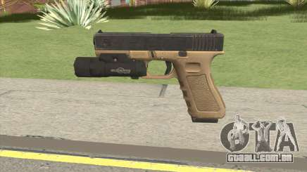 Glock 17 Tan With Flashlight para GTA San Andreas