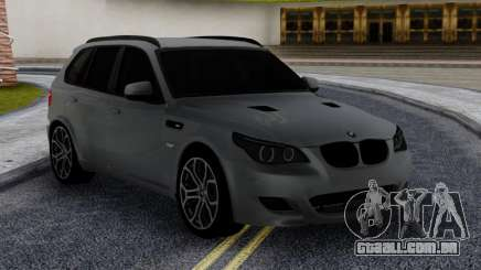 BMW X5M E70 with M5 E60 face para GTA San Andreas