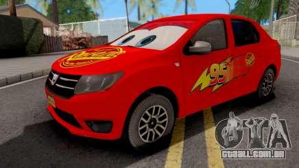 Dacia Logan 2 2016 Lightning Mcqueen v1 para GTA San Andreas