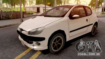 Peugeot 206 White para GTA San Andreas
