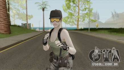 Jill Valentine Army Outfit From Resident Evil para GTA San Andreas