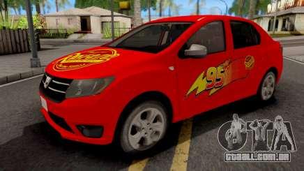 Dacia Logan 2 2016 Lightning Mcqueen v2 para GTA San Andreas