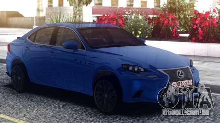 Lexus GS-F Blue Sedan para GTA San Andreas