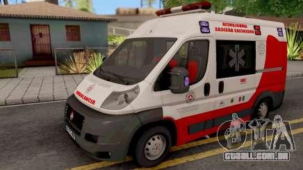 Fiat Ducato Ambulancia de Proteccion Civil para GTA San Andreas