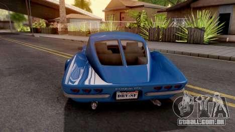 GTA V Invetero Coquette Classic Hardtop para GTA San Andreas