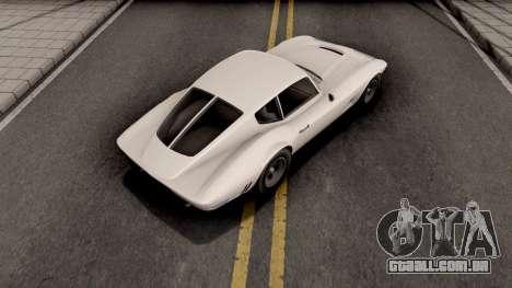 GTA V Invetero Coquette Classic Hardtop Stock para GTA San Andreas
