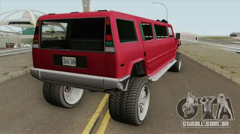 Mammoth Patriot Stretch GTA V para GTA San Andreas