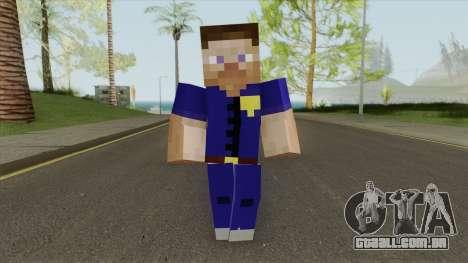 Police Minecraft Skin V1 para GTA San Andreas
