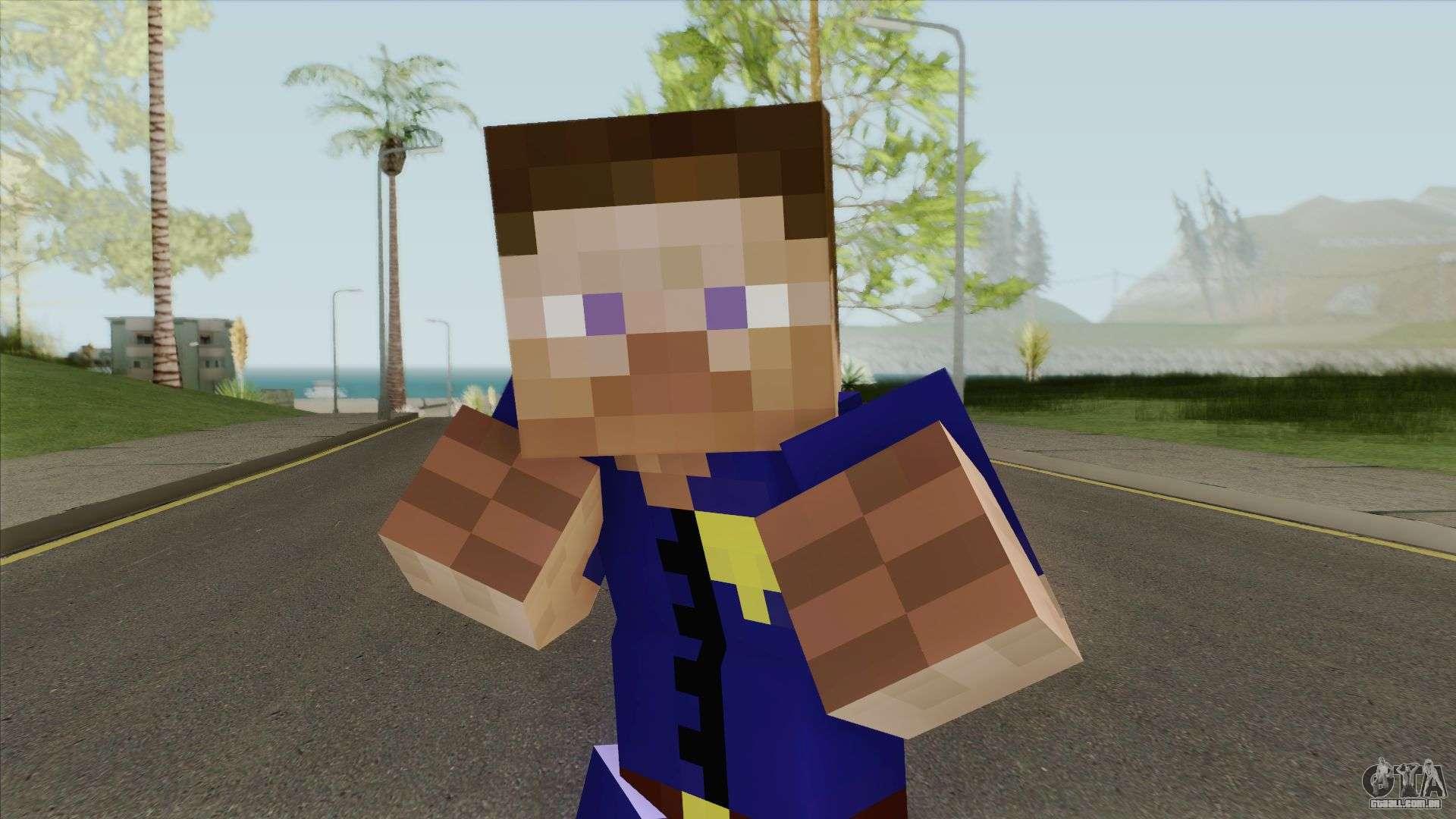 Police Minecraft Skin V10 para GTA San Andreas