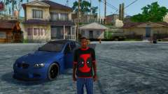 Deadpool T-Shirt Preto V1.0 para GTA San Andreas