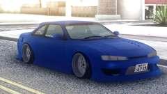 Nissan Silvia S14 Blue Stock para GTA San Andreas