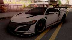 Honda NSX Liberty Walk White para GTA San Andreas