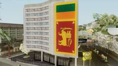 Srilanka Flag On Building para GTA San Andreas