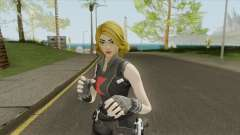 Black Widow Yellow Hair (Fortnite Marvel) para GTA San Andreas