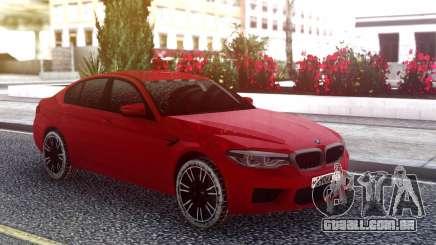 BMW M5 F90 Red Snow para GTA San Andreas