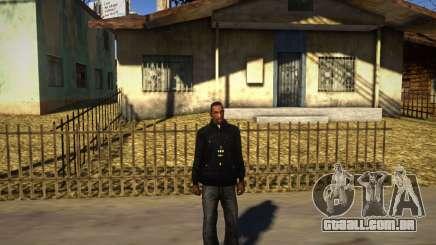 Pacman Preto Casaco Com Carapuço para GTA San Andreas