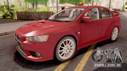 Mitsubishi Lancer Evo X Red para GTA San Andreas