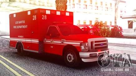 Ford F-250 Ambulance LSFD para GTA San Andreas
