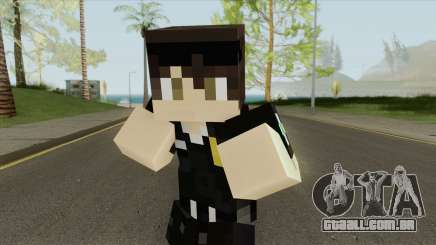 Police Minecraft Skin V2 para GTA San Andreas