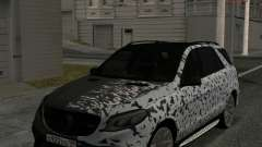 Mercedes-Benz GLE 63 AMG Grey & White para GTA San Andreas
