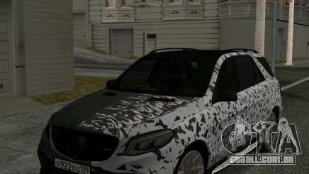 Mercedes-Benz GLE 63 AMG Grey & White para GTA San Andreas