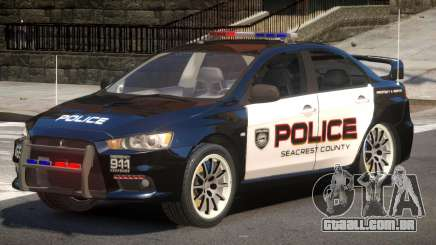Mitsubishi Lancer X Police V1.0 para GTA 4