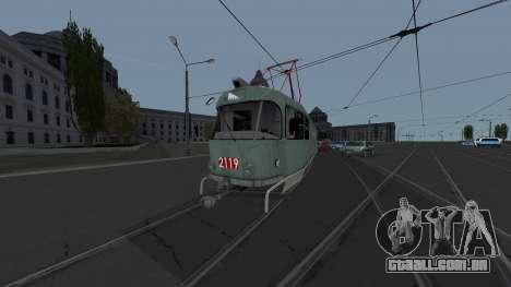 Bonde Tatra T3SU de Rega para GTA San Andreas