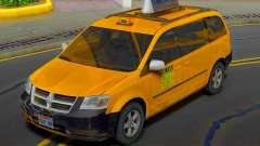 Dodge Grand Caravan 2009 Taxi para GTA San Andreas