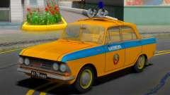 AZLK Moskvich 408 URSS Polícia