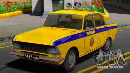 O Moskvitch 412 Polícia (GAI) da URSS para GTA San Andreas