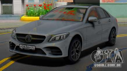 Mercedes-Benz C43 AMG Grey para GTA San Andreas