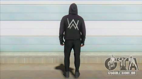 GTA Online Skin Ramdon Alan Walker V1 para GTA San Andreas