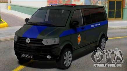 Volkswagen Transporter T5 FSB da Rússia para GTA San Andreas