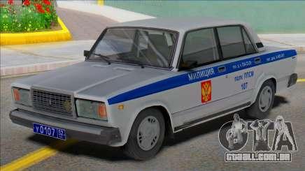 Polícia de PF 2107 Vaz 2004 para GTA San Andreas