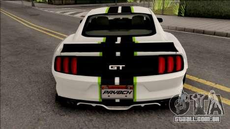 Ford Mustang 2015 NFS Payback Impoved para GTA San Andreas