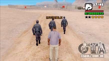 Invisiblity para GTA San Andreas