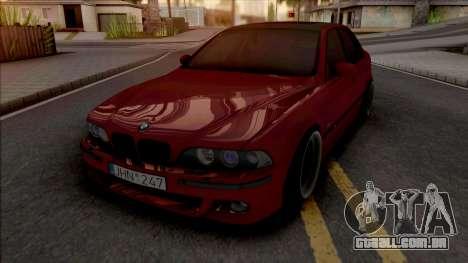 BMW M5 E39 Stanced Red para GTA San Andreas
