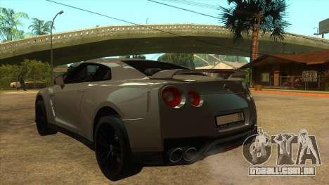 Nissan GT-R R35 SA para GTA San Andreas