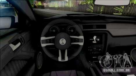 Ford Shelby GT500 2013 (SA Lights) para GTA San Andreas