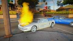O motor não funciona quando é incendiado. para GTA San Andreas